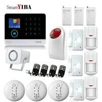SmartYIBA     systeme dalarme de securite domestique sans fil  wi-fi  application de telephone  GSM  99 zones  ecran couleur TFT