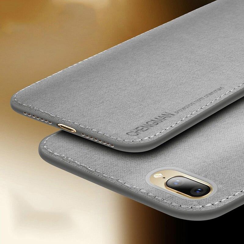 Винтажные тканевые чехлы для телефонов iPhone 7 8 Plus ультра тонкий тканевый в деловом стиле тканевый Мягкий защитный чехол для iPhone XS Max XS X XR 6 6S