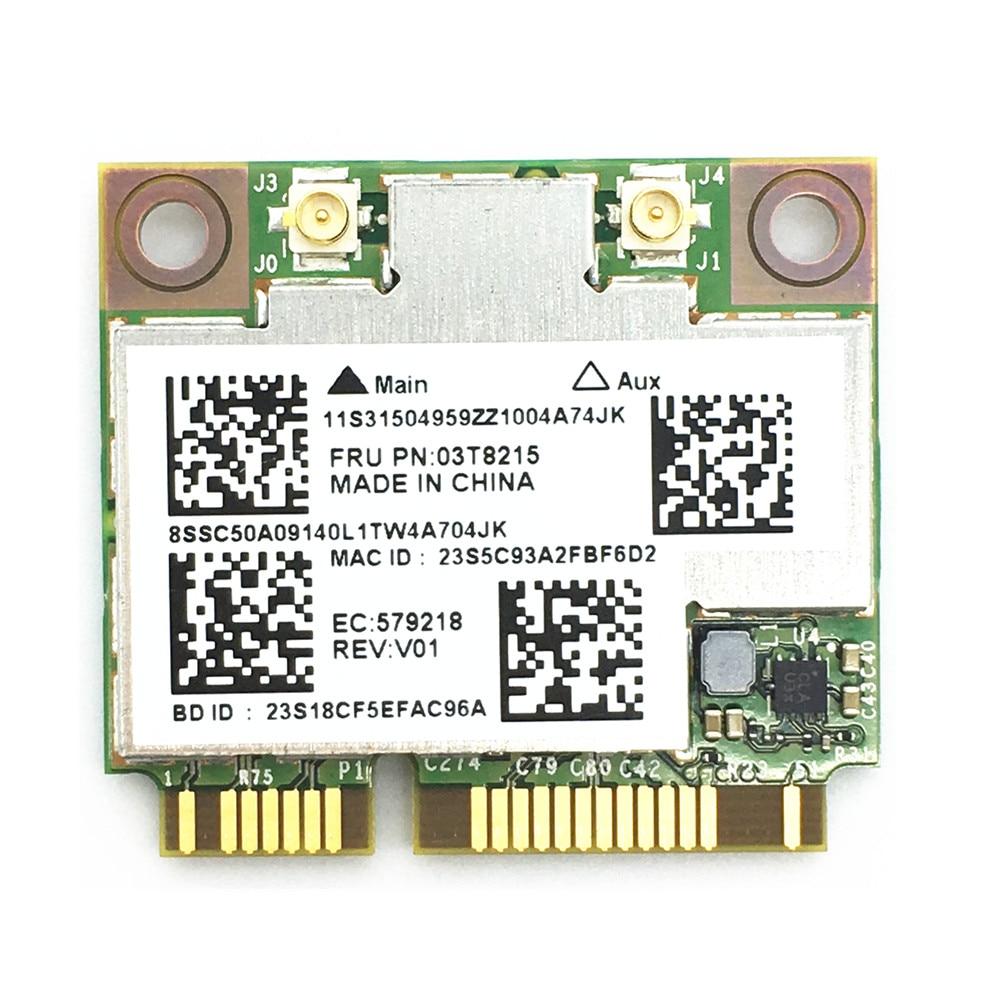برودكوم 03T8215 03T7135 BCM94352HMB 802.11ac ثنائي النطاق واي فاي يصلح للبلوتوث 4.0 867Mbps بطاقة PCI-E صغيرة لينوفو