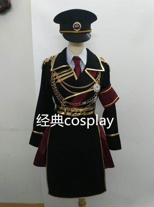 Retorno dos Reis Traje para Unisex Amine Kushina Anna Uniforme Militar Cosplay Traje Conjunto Completo Halloween Personalizado k