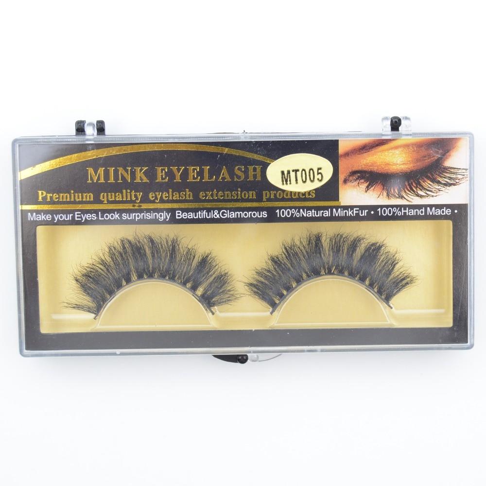 1 par/set de pelo de caballo, pestañas postizas 100% hechas a mano, naturales, desordenadas, pestañas postizas gruesas largas, pestañas postizas, extensión de ojo MT005