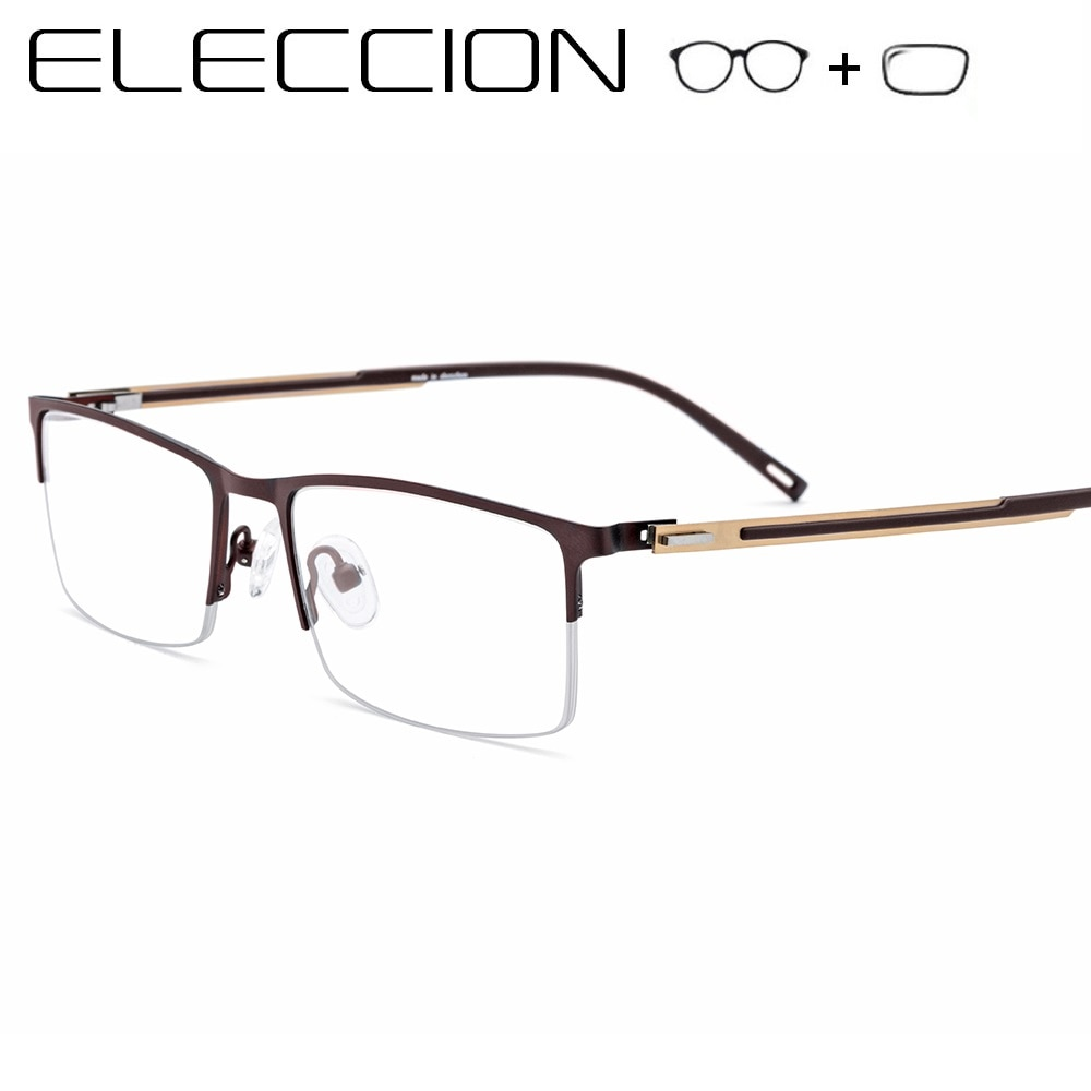 Ultralight Titanium Alloy Optical Frames Men Prescription Glasses Square Myopia Eyeglasses Male Phot
