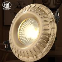 European Style Luxury Pure Copper 5W 7W 9W COB Downlight Ceiling Lamp Vintage LED Spotlight Indoor Lighting