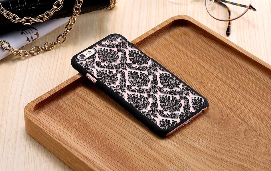 Kisscase retro elegancki wzór case dla iphone 6 6s plus samsung galaxy s7 edge s6 krawędzi uwaga 4 5 samsung e5 e7 a3 a5 a7 a8 j5 j7 10