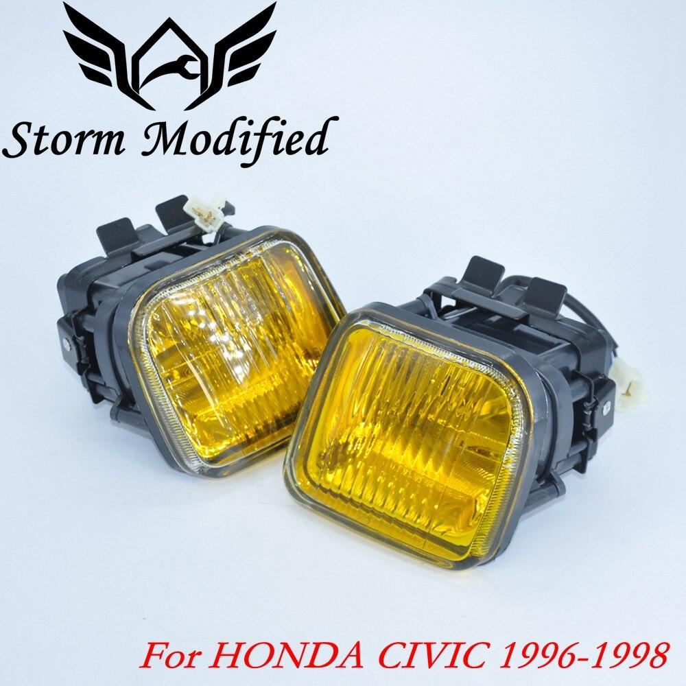 NEW Yellow Fog light / Fog lamp Smoke For HONDA CIVIC 96-98 2/3/4DR Driving Lamp Fog Light + Swith