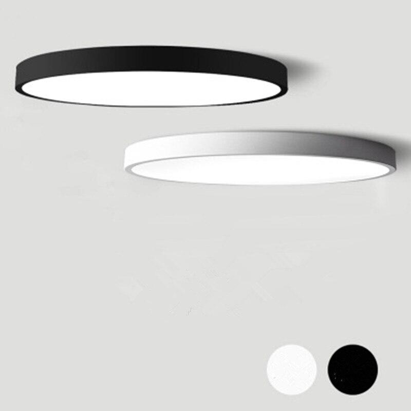 Candelabro Led moderno blanco y negro, candelabros redondos de acrílico para techo para sala de estar, dormitorio, cocina, accesorio de iluminación fina Ultra