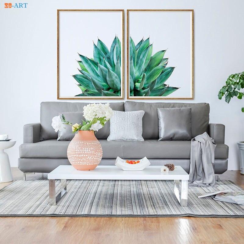 Agave succulente impression Cactus affiche botanique mur Art minimaliste toile peinture mur photos pour salon décor à la maison