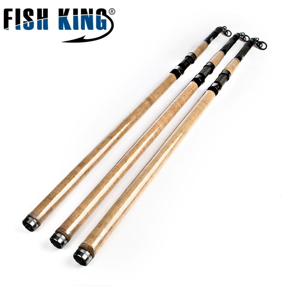 Телескопическая удочка для серфинга FISH KING, 3,9 м, 4,2 м, 50-150 г, 5 секций, 4 направляющих, удочка для морской рыбалки, карбоновая удочка для серфинг...