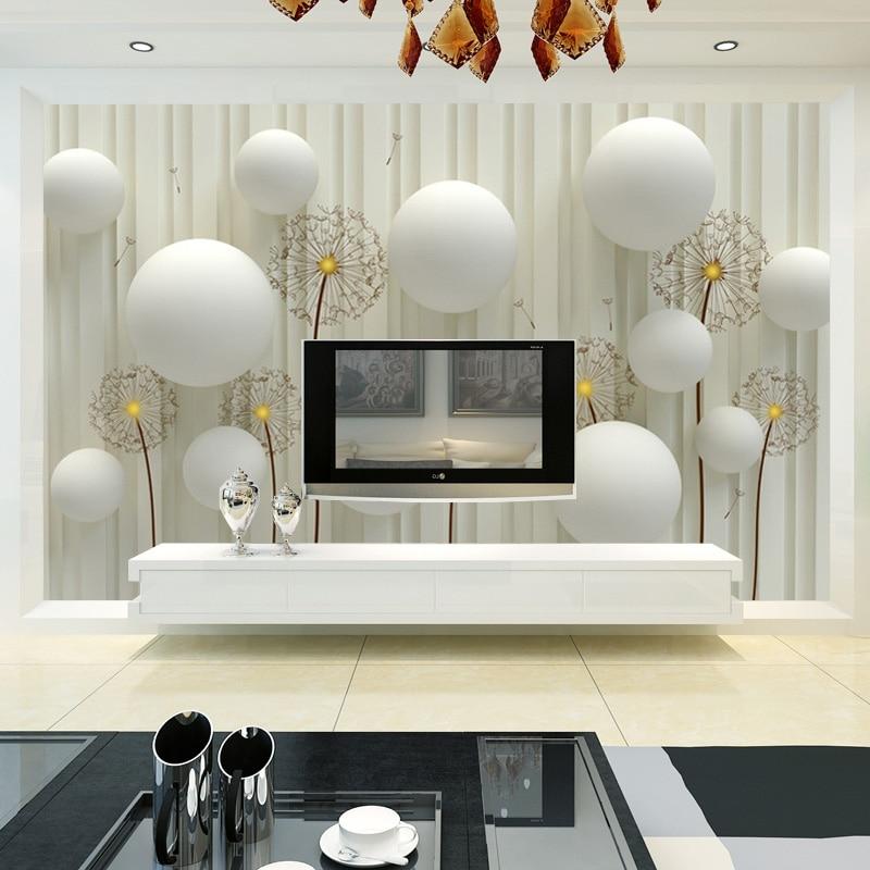 3D фотообои на заказ, современная мода, простой и мягкий Одуванчик, постельные принадлежности, для комнаты, дивана, фон, настенная бумага для ...