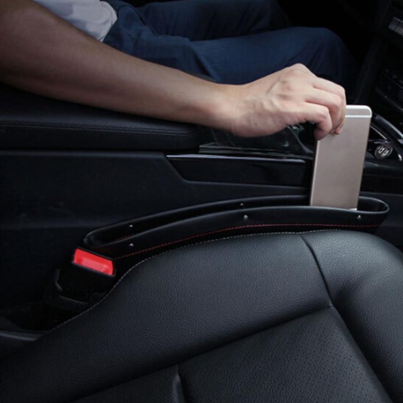 New 1pcs Car Seat Organizer Slit Gap Pocket Storage Box for Fiat Panda Bravo Punto Linea Croma 500 595