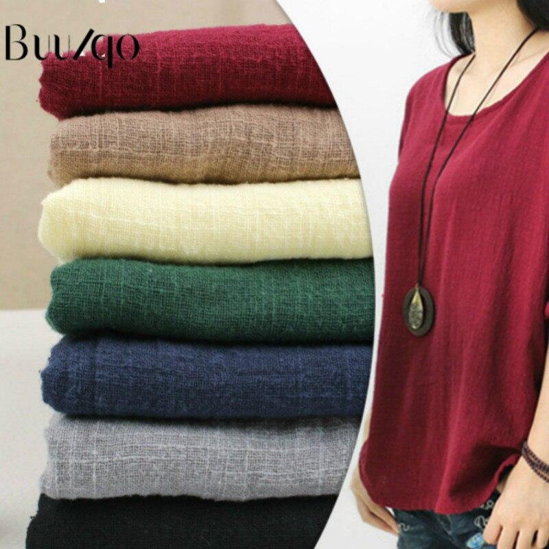 Buulqo Thin slub cotton fabric for summer fashion clothing making material DIY sewing craft cotton fabric 50*135cm