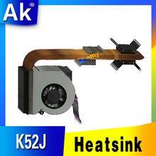 Akemy Original Für asus laptop kühlkörper lüfter cpu kühler K52 K52F A52F X52F P52F k52J P52J A52J X52J A52J CPU kühlkörper