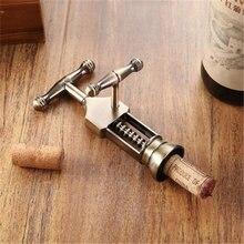 New Antique Wine Opener Portable Corkscrew Wine Bottle Opener Home And Bar Tool High-grade Vintage Zinc Alloy Wine Bottle Opener