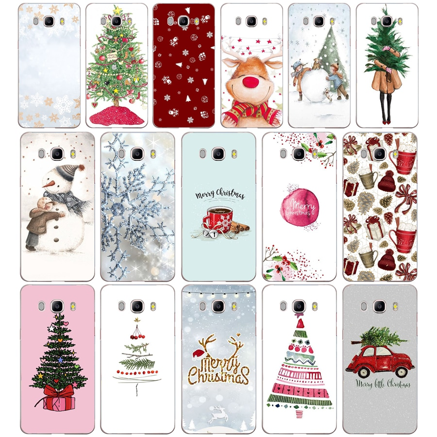 132 ZX Christmas Snowflake TPU Soft Silicone Case For Samsung Galaxy j3 J5 J7 2016 2017 Phone Cover Capa Capinha