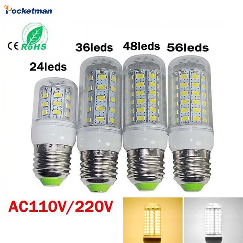 LED Bulb Lamp E27 E14 110/220V SMD5730 24/36/48/69Leds Light Bulbs Lampada LED Diode Lamps Energy Saving Light for Home Dropship