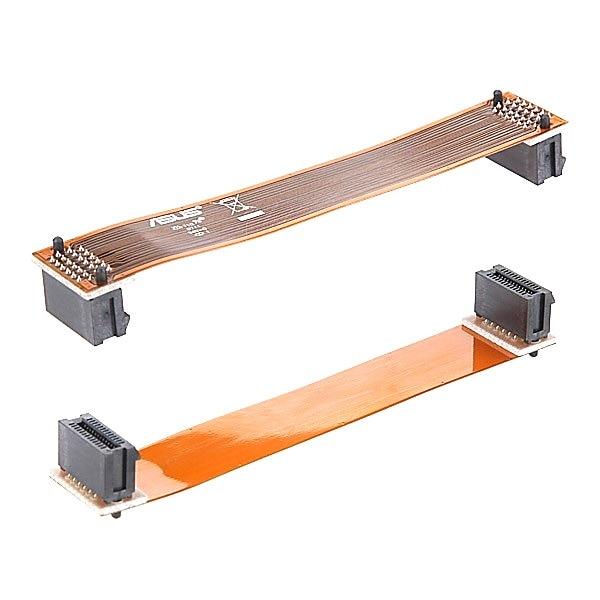 """2 pces pci-e conector de cabo de placa de vídeo interface de ligação escalável 7 """"12 cm pci-e cabo flexível ponte sli para asus nvidia"""