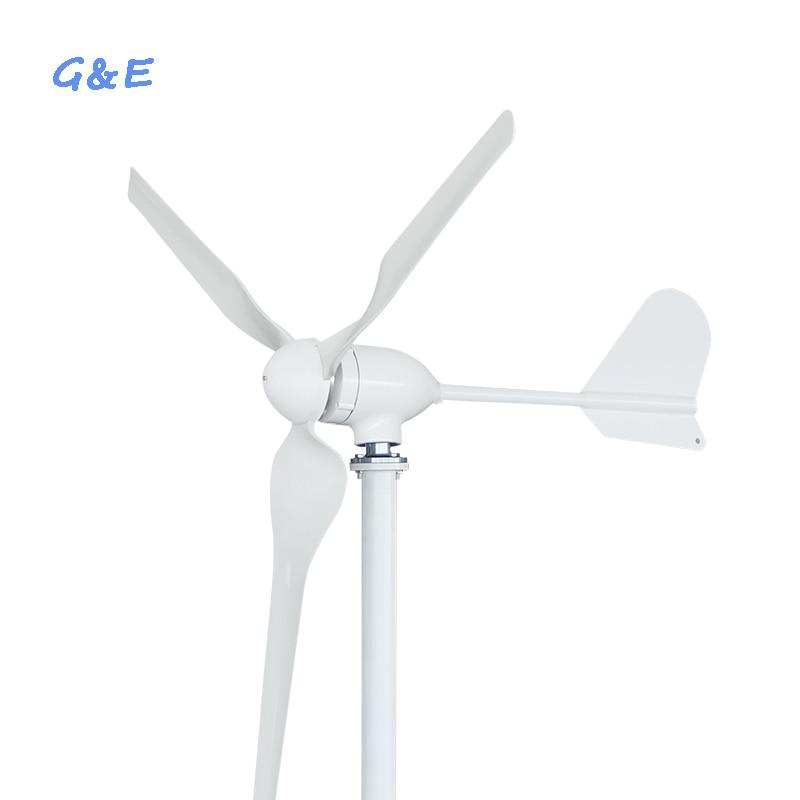 12 فولت 24 فولت 48 فولت اختياري 600 واط محور أفقي مولد الرياح مع مقاوم للماء الرياح جهاز التحكم في الشحن