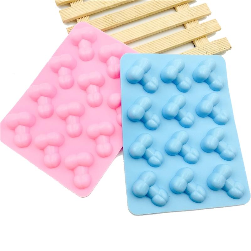 Новое поступление 1 шт. Сексуальная силиконовая форма для пениса для торта 12 отверстий лоток для льда DIY силиконовые формы для шоколада