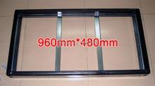 2 ensembles/paquets Gicl-3590 cadre en aluminium, taille décran 960*480mm; convient au panneau daffichage P5 P10 LED