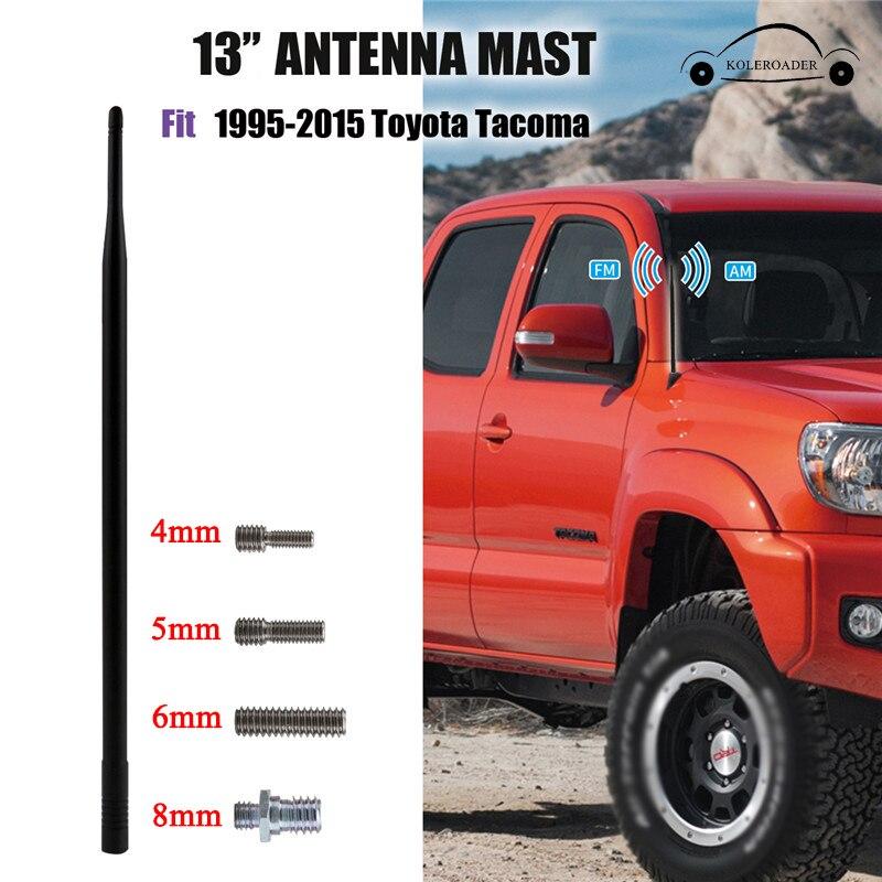 "KOLEROADER 13"" Car Antenna Radio AM FM Antena For Toyota Tacoma Pickup 1995 - 2015 Signal Amplifier Booster Aerial Mast /"
