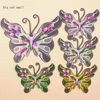 lovely butterfly patch for kids clothes flowers diy accessory a level washable heat transfer ironing stickers appliques