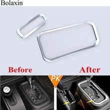 Bolaxin Auto Silver ABS Inner Accessories Gear Box+transfer Case Decoration Trim Sticker For 2011-2016 Jeep Wrangler Rubicon JK