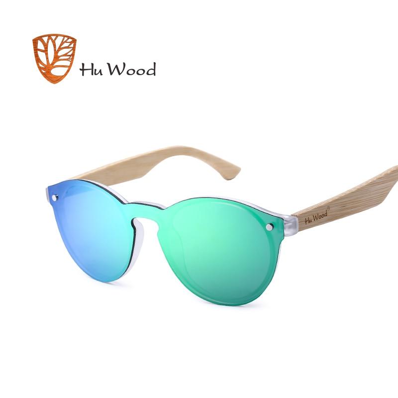 Hu madera espejo lentes gafas de sol de madera mujer multi color sol para unisex conducir gafas de sol rimless GR8013