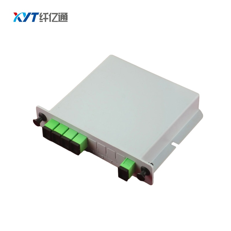 New Product 5pcs/lot 1x2 fiber optic splitter 10%:90% inserted type SC APC connector inserted box