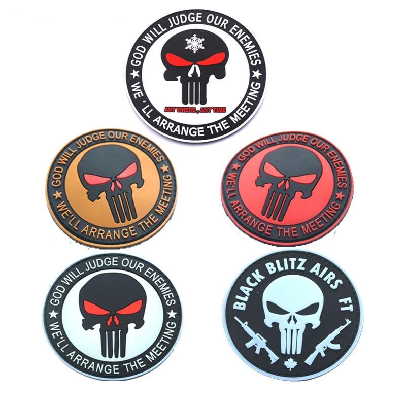 Punisher GOD valorará a nuestros amigos, parches militares de estilo táctico insignias para prendas de vestir de PVC
