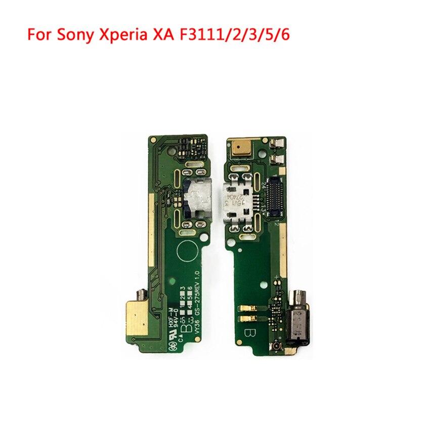 Puerto de carga USB, conector, placa de carga, Cable flexible para Sony Xperia XA F3111 F3112 F3113 F3115 F3116