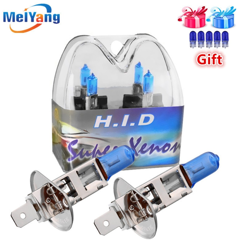 Лампа H1 55 Вт 12 В, галогеновая, ксеноновая, Ярко-белая, высокая мощность, автомобильная противотуманная фара DRL, дневный ходовой светильник, ис...