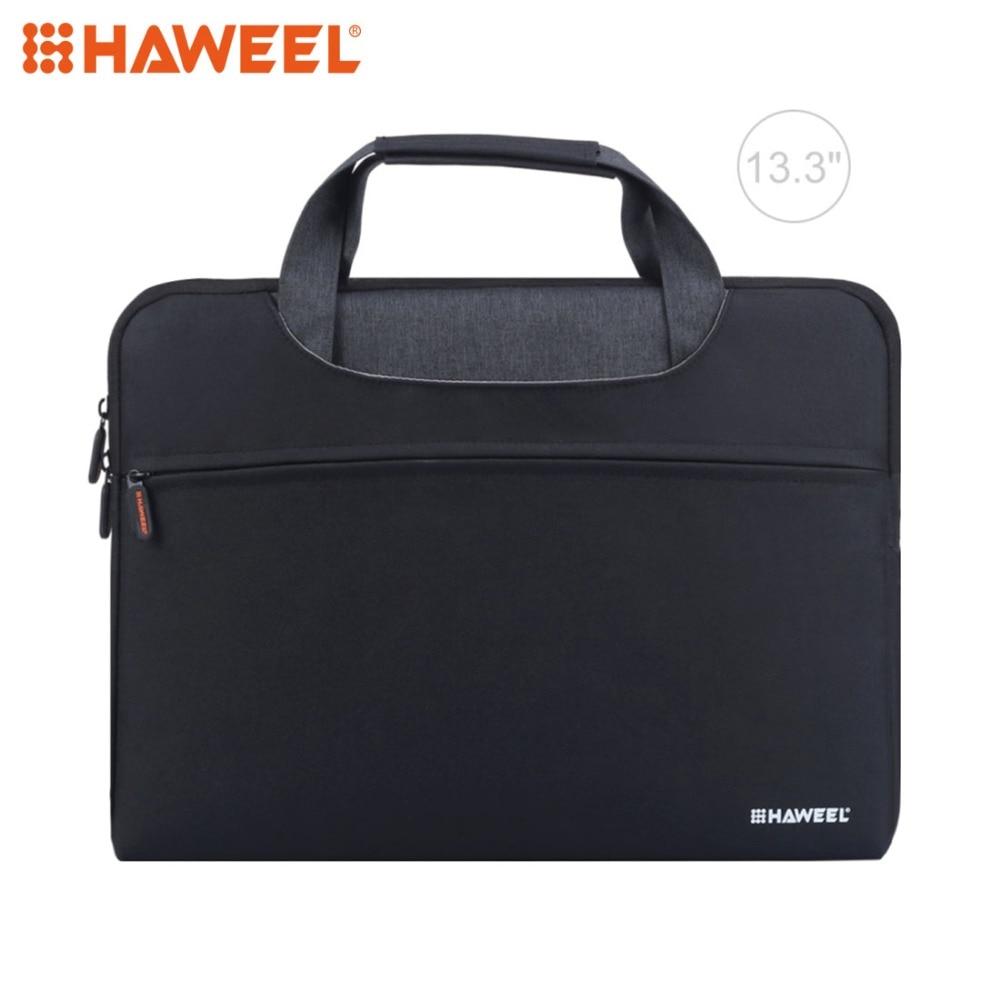 HAWEEL сумка для ноутбука Macbook 13,3 дюйма на молнии через плечо Водонепроницаемая ручная Ткань Оксфорд сумки для ноутбука для Lenovo