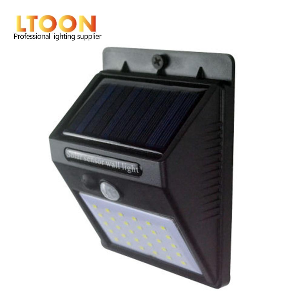 [LTOON]LED Solar Power PIR Motion Sensor Wall Light 30 LED Outdoor Waterproof Energy Saving Street Yard Path Home Garden Securit