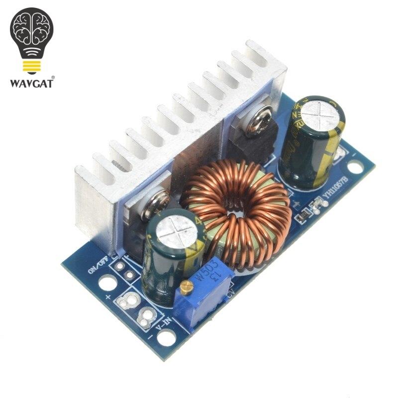 1 Uds. Convertidor de impulso DC-DC módulo de alimentación de aumento no aislado con disipador de calor ajustable 4,5 V-32V a 5-42V 6 a envío gratis