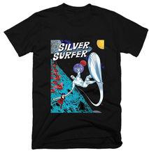 Srebrny SURFER, stary film, 1966,100% bawełna, męska koszulka t-shirty 2018 markowe ciuchy koszulka Slim Fit