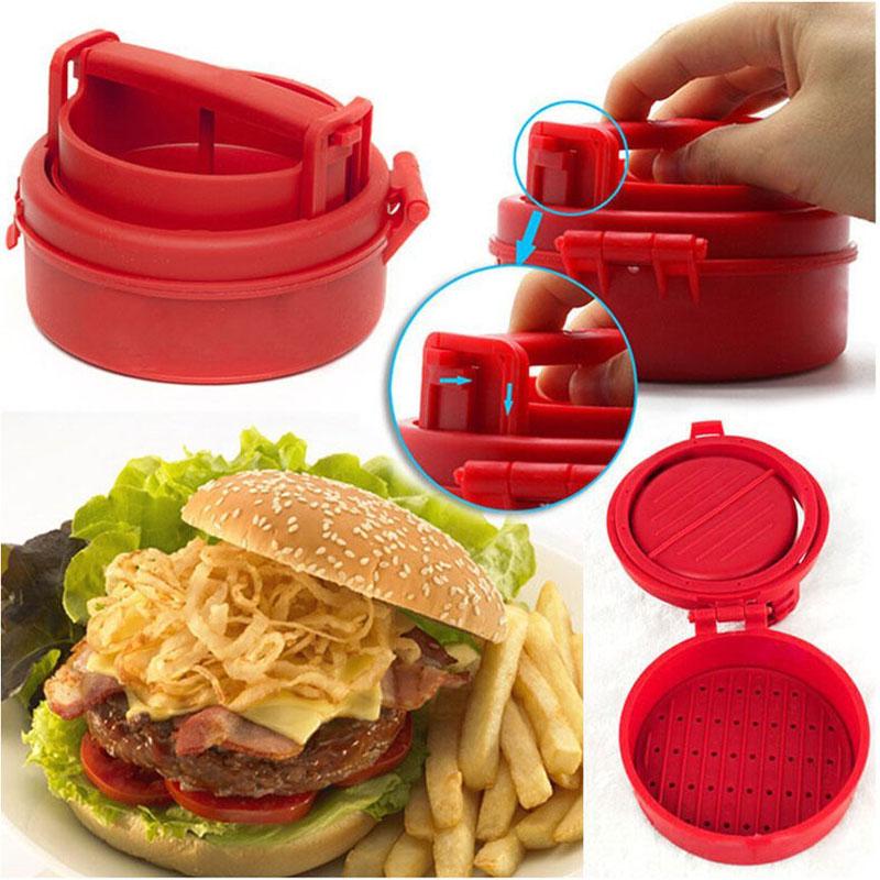 Горячая 1 шт. пластиковый пресс для гамбургеров с начинкой форма сделай сам