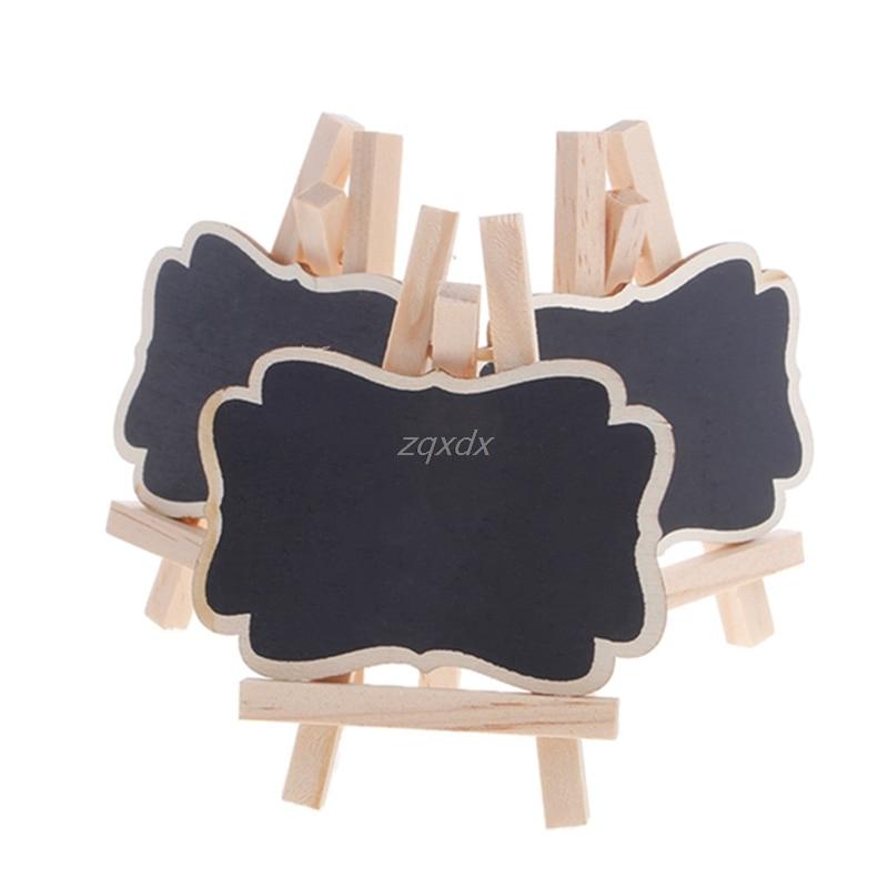3 uds Mini pizarra de madera soporte para pizarra para boda decoraciones de mesa para fiestas etiquetas