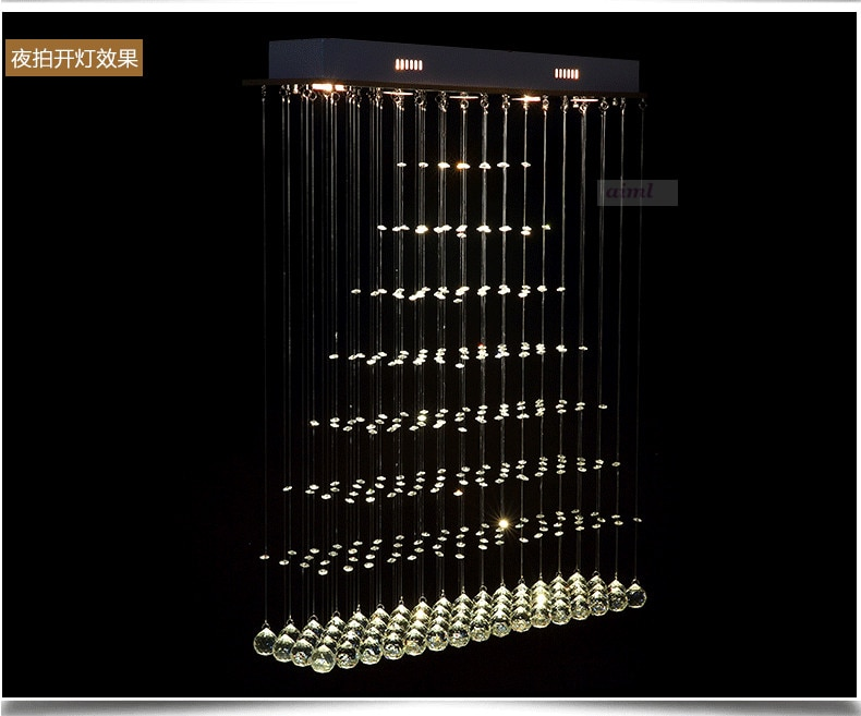 3 5 6 Heads K9 Crystal LED pendant Lights Square pendant Lamp living room lamp hotel lamp  - buy with discount