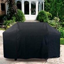Protection de gril de jardin   Pour gaz charbon de bois Barbecue électrique grille de Barbecue, grande couverture dextérieur noire étanche pour Barbecue