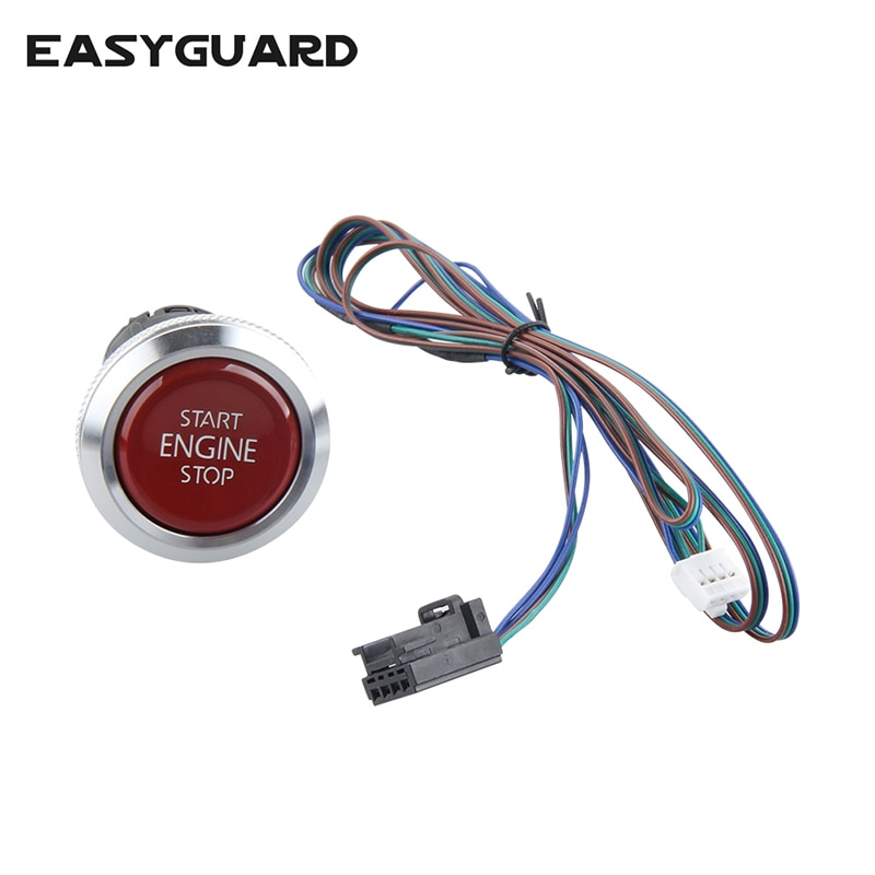 Easyguard substituição empurrar o botão de parada partida do motor para ec002 es002 ec008 série p4 estilo