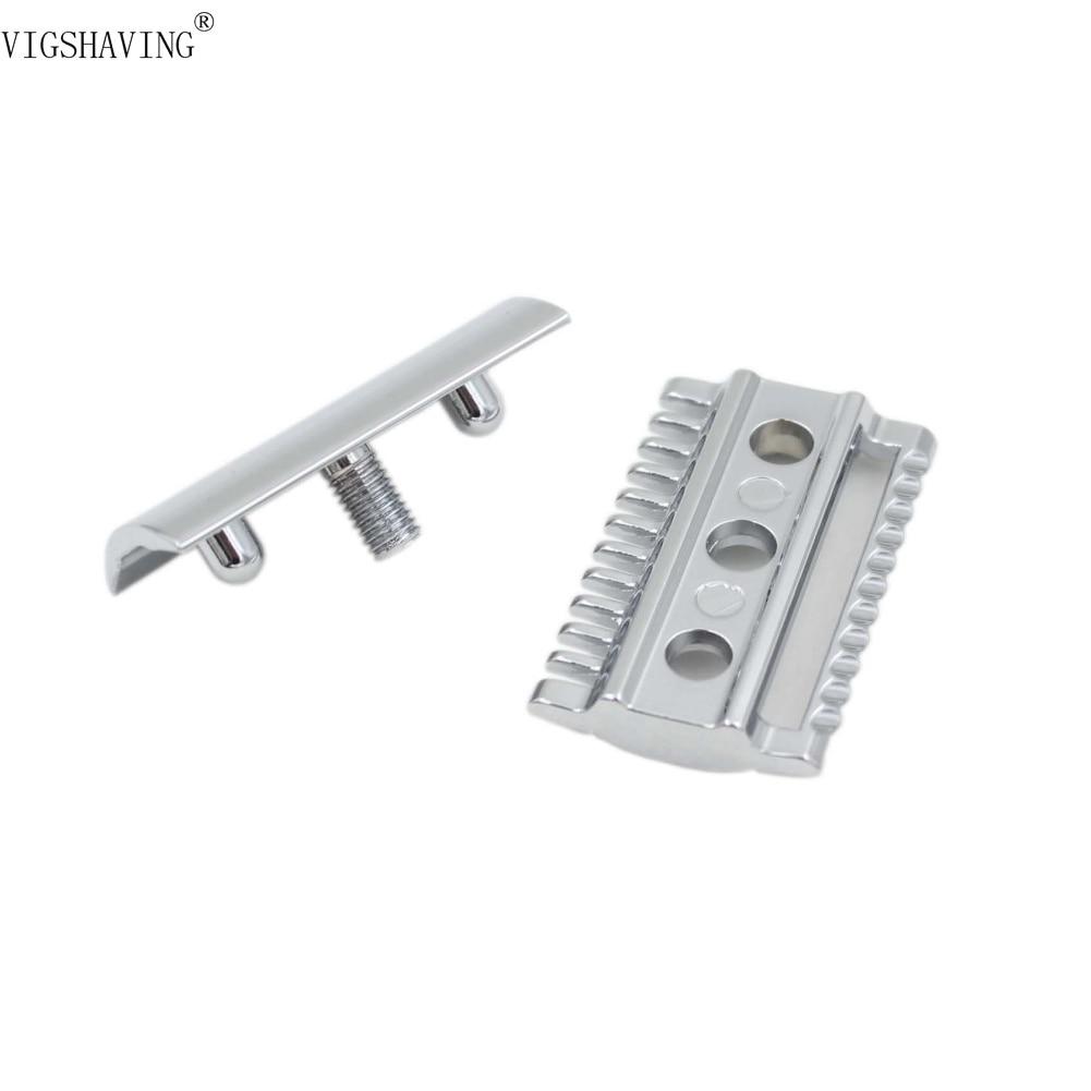 VIGSHAVING Double Edge Shaving Safety Razor Open Comb Head