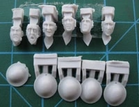 135 resin kit wwii british troops head 6 figures
