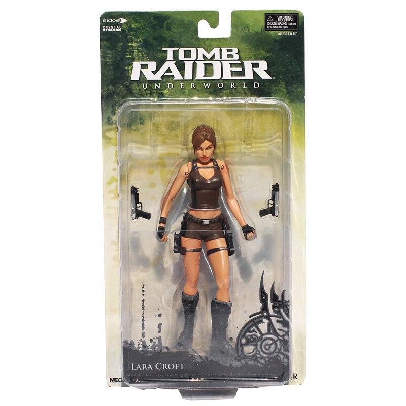 "7 ""18 cm NECA Tomb Raider Underworld Lara Croft PVC Action Figure Novo na Caixa Frete Grátis"
