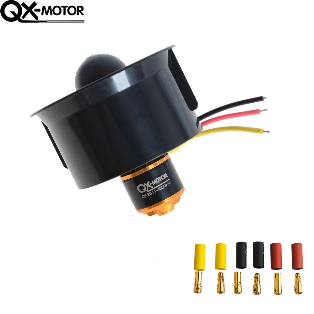 Ventilador con conductos de 64mm, 5 cuchillas + Motor sin escobillas 4500KV 320W para ventilador del aeroplano modelo Rc