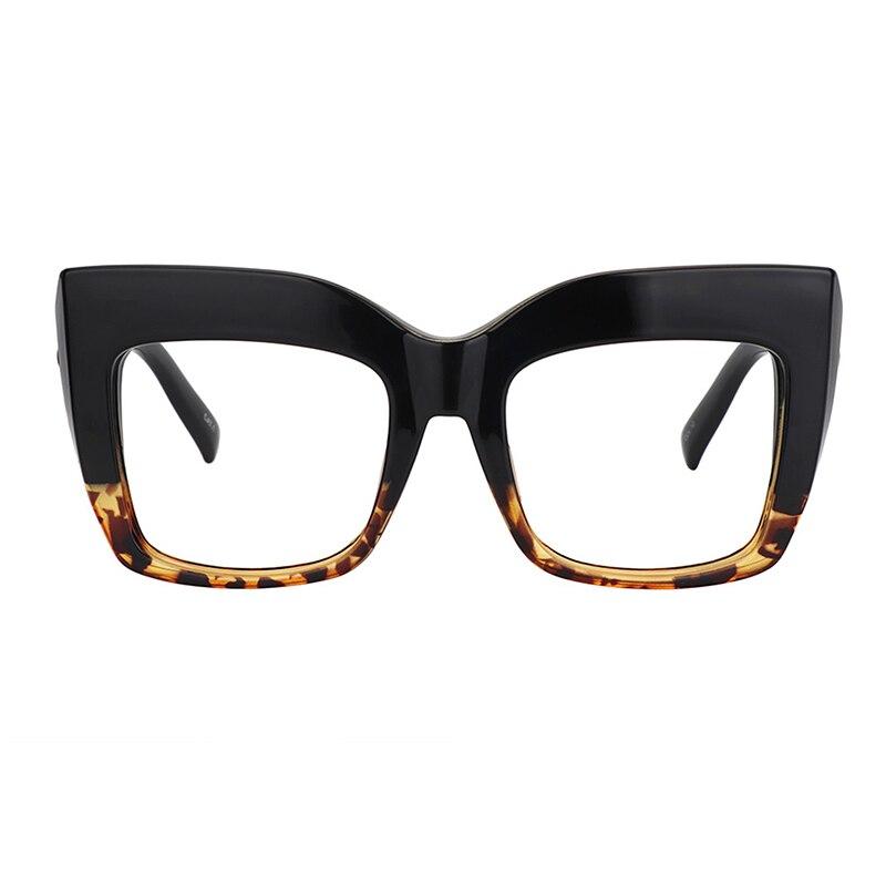 Zeelool Readers Vintage grandes gafas de lectura tipo ojo de gato grueso para mujeres Alberta FP0668