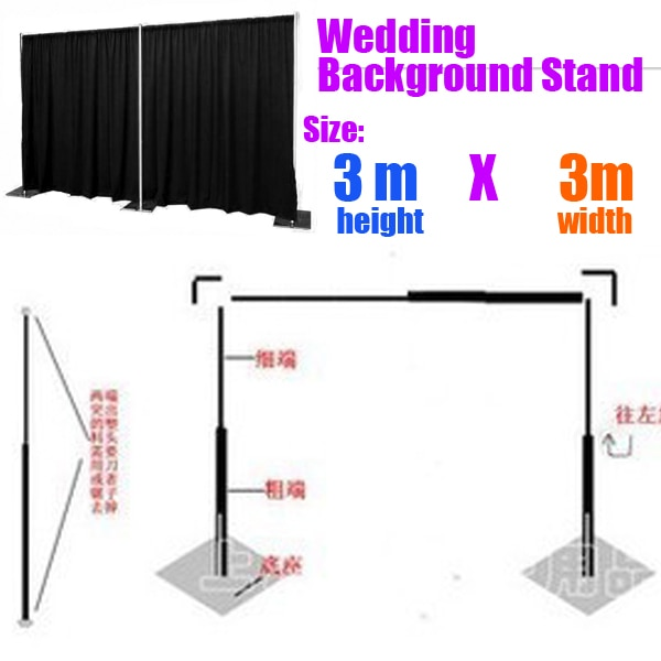 3M * 3M boda telón de fondo Stand  de Stend para telón de fondo rápido Fondo Kit de tubería Decoración Para Boda al por mayor
