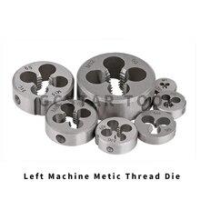 10 pièces filetage gauche filière métrique M2 M3 M4 M5 M6 M7 M8 M10 Mini filetage vis Machine Die outils à main gauche pour le travail des métaux