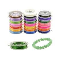 1 шт. 10 красочных 0,5 мм Хрустальных нитей, бусин, бисерная проволока, DIY бусины для ювелирных изделий, 10 м, резиновая эластичная нить