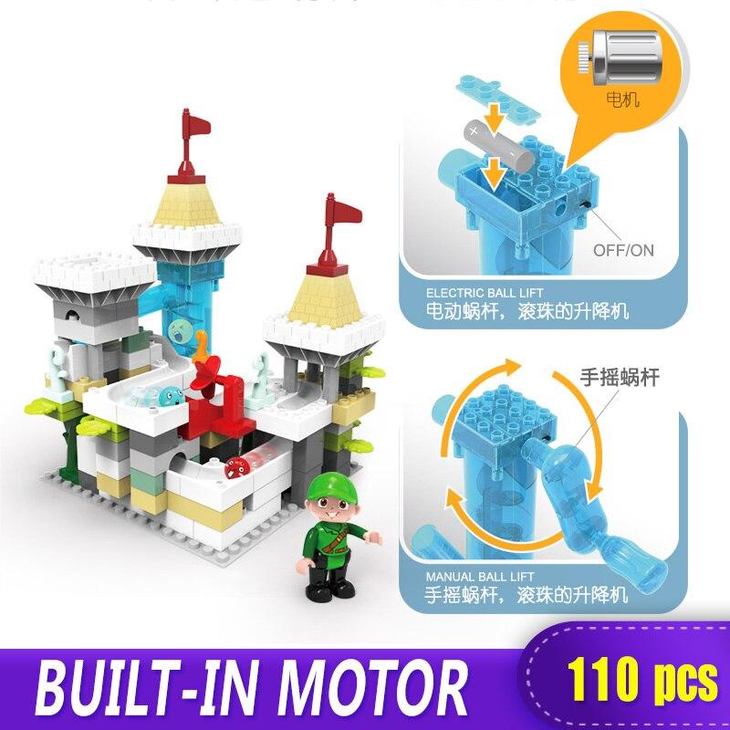 Castillo aventura eléctrica XINGBAO NWE 110 piezas grandes bloques de construcción Duplo juguete regalo para niños DIY Compatible con Logo