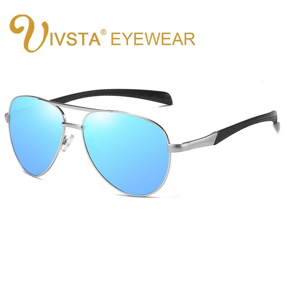 IVSTA Pilot Sunglasses Men Polarized Glasses for Polaroid Lenses HD Mirror Brand Designer Metal High Quality PH075